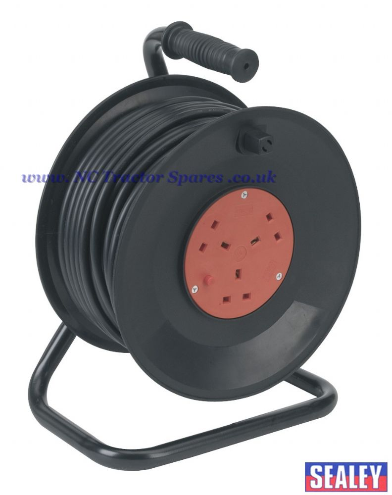 Cable Reel 50mtr 3 x 230V Thermal Trip